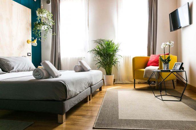 Il salotto della Camera Doppia B&B Treviso Appartamento Castelmenardo Treviso